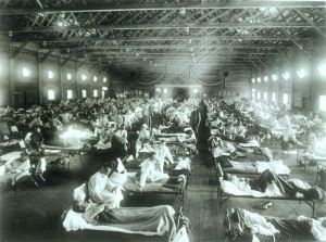 This is how people were treated if they became sick in 1918.
